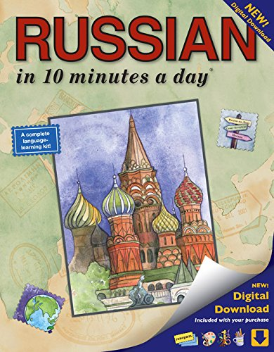 RUSSIAN in 10 minutes a day: Language course for beginning and advanced study. Includes Workbook, Flash Cards, Sticky Labels, Menu Guide, Software, ... Grammar. Bilingual Books, Inc. (Publisher)