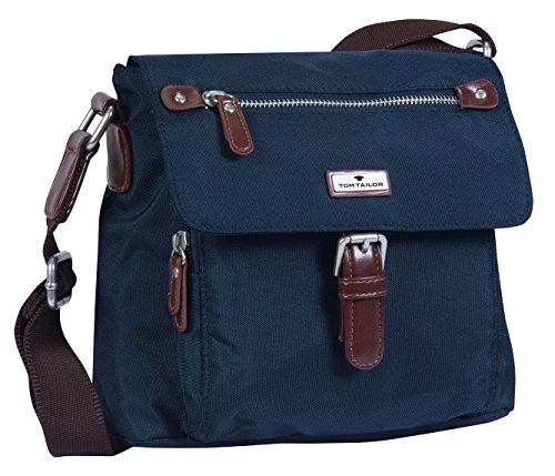 TOM TAILOR Damen Taschen und Geldbörsen kleine Überschlagtasche dark blue cognac,OneSize