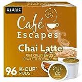 Cafe Escapes, Chai Latte Tea Beverage, Single-Serve Keurig K-Cup Pods, 96 Count...