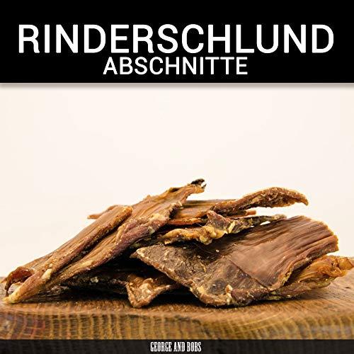 George & Bobs Rinderschlundfleisch (Abschnitte) - 1000g | Hochewertige Qualität aus Deutschland | Kausnack für Hunde