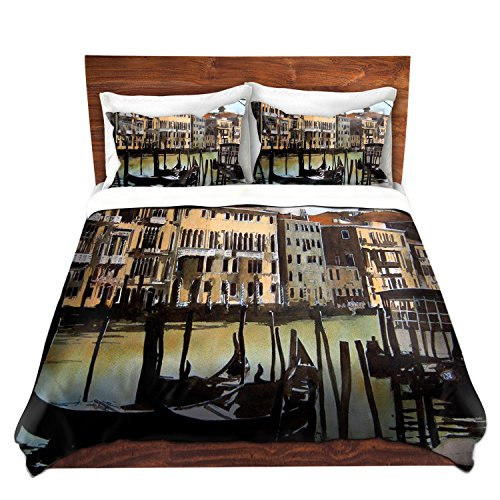 Duvet Cover Brushed Twill Twin, Queen, King SETs DiaNoche Designs by Martin Taylor Home Decor Bedding Ideas - Views Over Venice