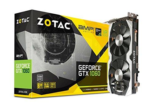 ZOTAC GeForce GTX 1060 AMP Edition, ZT-P10600B-10M, 6GB GDDR5 VR Ready Super Compact Gaming Graphics Card (Renewed)