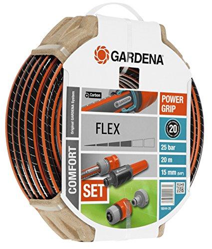 Gardena Set Flex Ø 15 mm con 20 m de Manguera, Lanza y Accesorios de riego, Estándar, 5 8  X 66