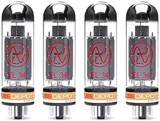 Quad of JJ EL34 Power Vacuum Tube