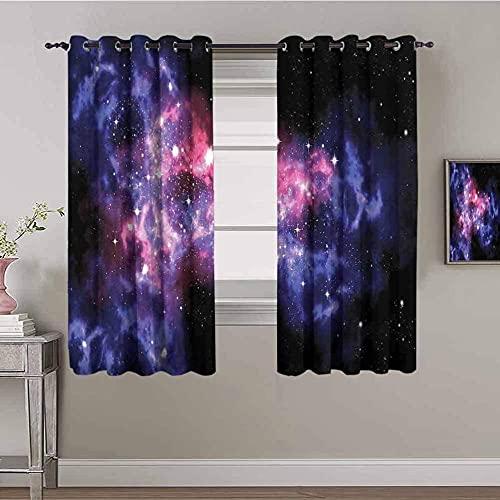 LTHCELE Opacas Cortinas Dormitorio - Púrpura cielo estrella
