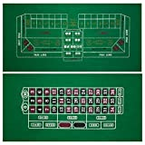 GSE Games & Sports Expert 2-Sided 36'x72' Roulette and Craps Casino Tabletop Felt Layout Mat