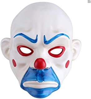 HSCC Halloween Costumes Knight Joker Adult Clown Cosplay Purge Face Resin Mask