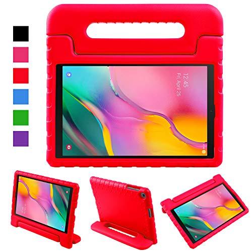 LEADSTAR Funda para Samsung Galaxy Tab A 10.1 2019,  Ligero y Super Protective Antichoque EVA Estuche Protector Diseñar Especialmente Manija Caso con Soporte para los Niños,  SM- T510 / T515 (Rojo)