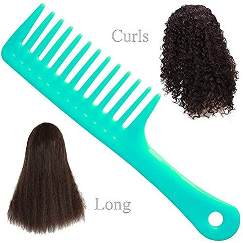 Dowoa Peigne en Plastique, Peigne à Dents Larges pour Cheveux bouclés Cheveux Longs Cheveux humides épaissis Peigne démêlant