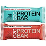G2G Protein Bars - 2 Boxes Meal Replacement Bar to Support Clean Eating, Gluten Free - One Box Each...