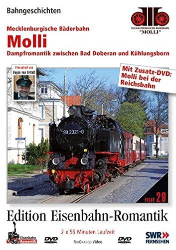 Molli - Dampfromantik zwischen Bad Doberan und Kühlungsborn - Bahngeschichten - Edition Eisenbahn-Romantik - Rio Grande [2 DVDs]