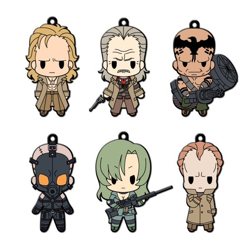 D4 Metal Gear Solid - Rubber Key Holder Collection Vol.2 (6pcs)