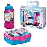 Disney Set Caja Merienda & Agua Botella Diamond Frozen | Caja de Desayuno