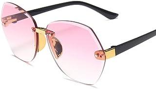 none_branded - Gafas de sol sin montura para niños y niñas, resistentes a los rayos UV, estilo con montura grande, de None Brand, para niños