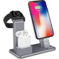 YoFeW Charging Stand for Apple Watch Aluminum Watch Charging Stand Dock Holder Compatible for...