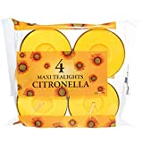 Prices - vela grande de citronela (10 h), 4 unidades