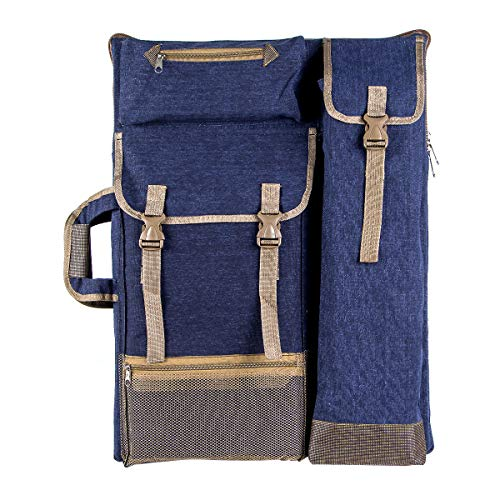 "Transon Artist Backpack Art Portfolio Bag 26"" x 19.5"" Navy Blue"