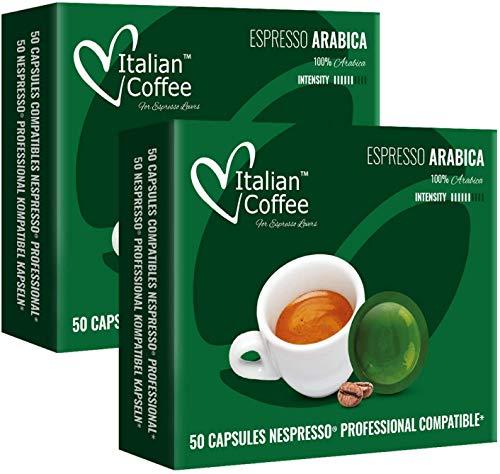 100 Capsulas Nespresso Profesional - 100 % Arabica - Capsulas de Café Nespresso Pro