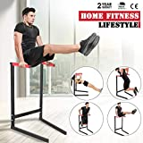 wisgofre Parallette Bars, Push-Up Bar Dip Station Stand Heavy Duty Power Tower Home Gym Fitness Exercise Workout Support 440 lbs
