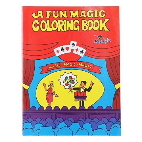 Xuniu Magic Malbuch, Comedy Magic Malbuch Zaubertricks Illusion Kinder Spielzeug Geschenk Funny Baby Toy Red Medium