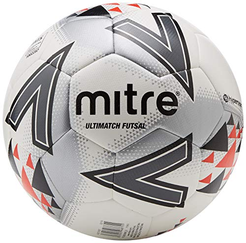 Mitre Ultimatch Futsal Football, weiß/rot/schwarz, 4