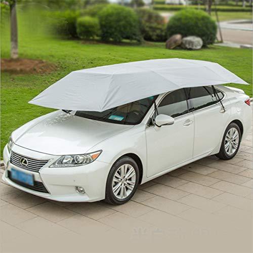 FBSPORT Automatik Auto-Zelt-beweglicher Carport faltete tragbare Automobil-Schutz-Regenschirm-Schutz-Auto-Haube für kampierende Reise (Gray)