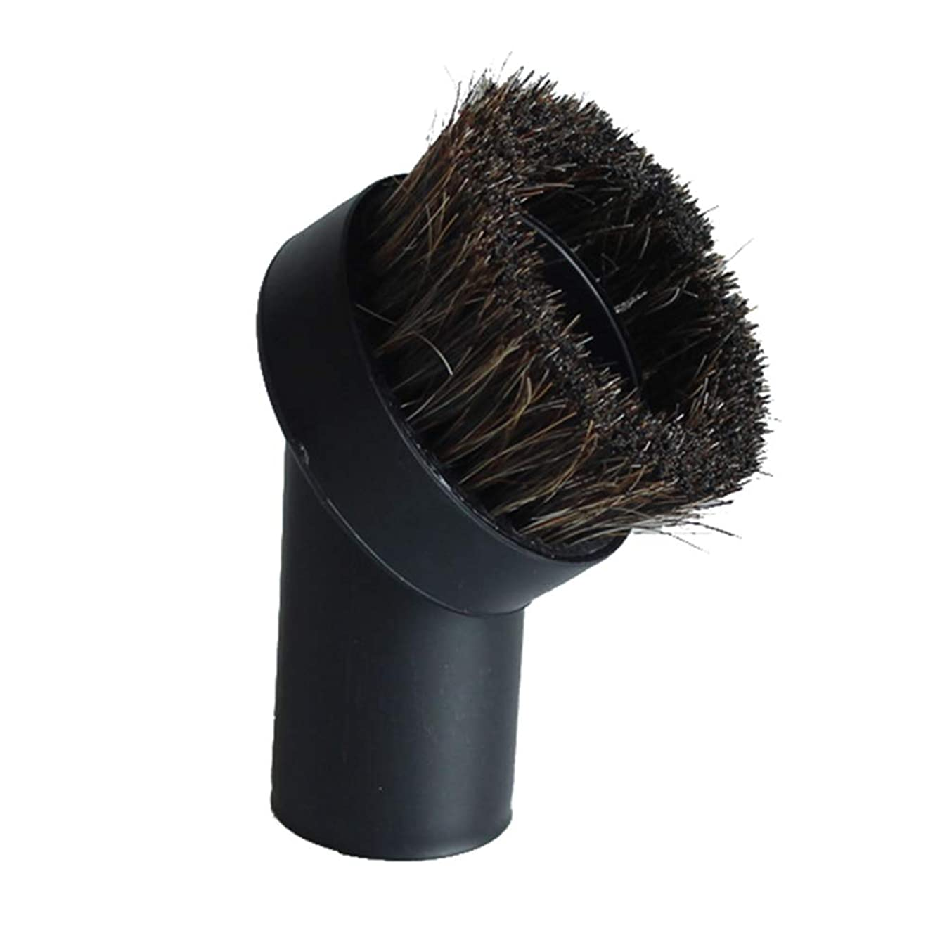 GIBTOOL Replacement Round Dusting Brush Soft Horsehair Bristle Vacuum Attachment 1.25