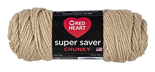Red Heart Super Saver Chunky Yarn, Buff Garn, Lederfarben