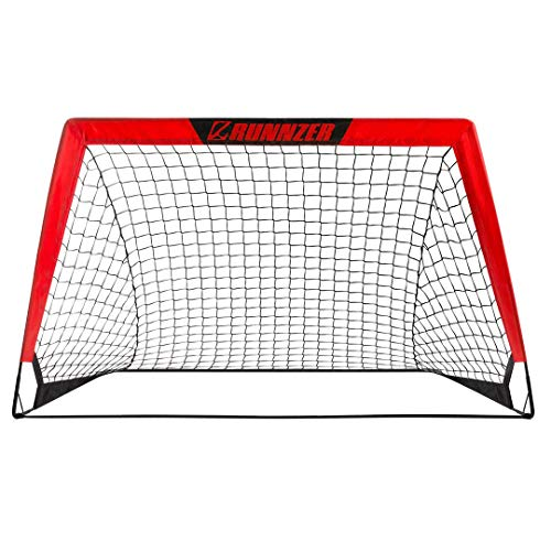 RUNNZER Portable Soccer Goal, Soccer Nets for Backyard Training Goals for Soccer Practice with Carry Case, 4' x 3'