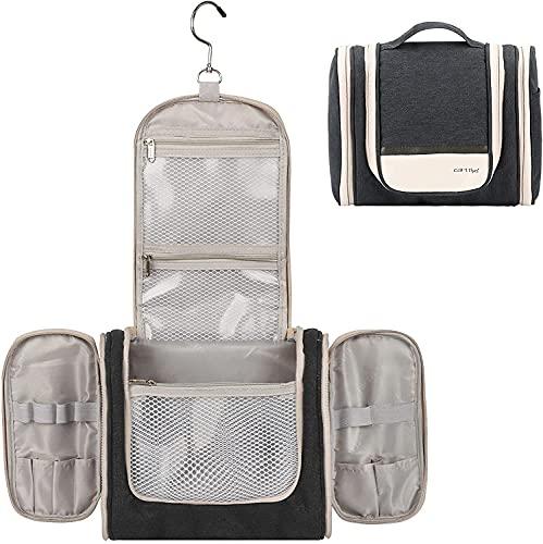 Archile Bolsa de Aseo Grande para Hombres y Mujeres, Make Up Bag, Bolsa de baño a Prueba de Agua cosmética para Viajes de Negocios (Azul Claro) (Color : Black, Size : 26 * 34 * 6cm)