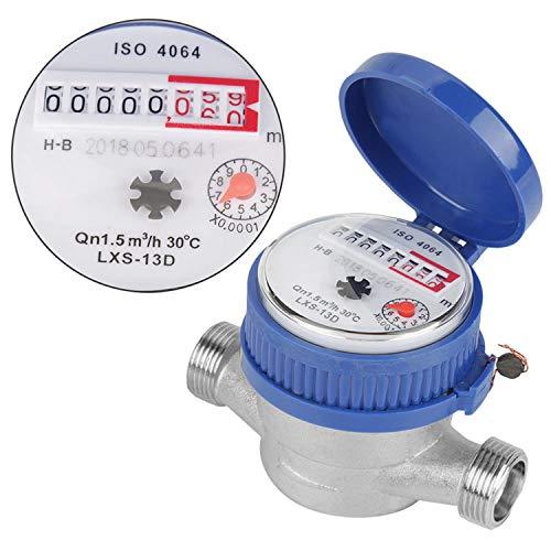 "Contador de Agua Digital KKmoon Medidor de agua inteligente de 15 mm 1/2"" Tipo de rotor mecánico para el hogar Medidor de agua fría Puntero Pantalla digital Medidores de agua combinados"