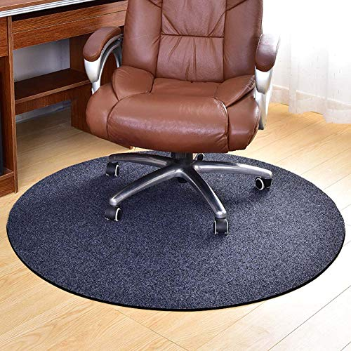 YINN Alfombrilla redonda para silla de pelo bajo, resistente a los arañazos, alfombrilla antideslizante, alfombrilla de silla de rodillo de rueda fácil deslizamiento, cortable