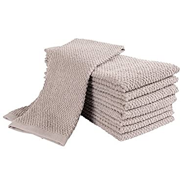 KAF Home Pantry Montclair Kitchen Towels (Set of 8, 16x26 inches), 100% Cotton, Ultra Absorbent Terry Towels - Drizzle