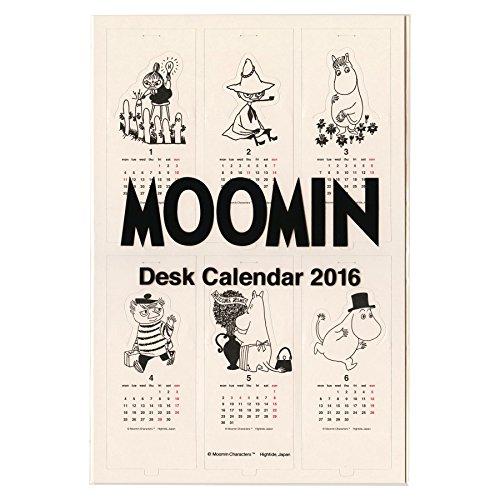 デスクカレンダー ムーミン 卓上【ホワイト】<2016年1月から2016年12月対応> 16NH00