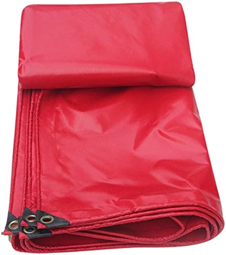 Bache Bache Toile D'ombre Tarp-Couvercle De Cérémonie en Tissu Recouvert De PVC Rouge Recouvert De Draperie Abordable Et Durable Artisanat Exquis LEBAO (Couleur   4  4m)