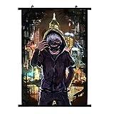ALTcompluser Wallscroll Wandbanner für Tokyo Ghoul Dekorative Rollbild Wandbild Stoff Poster Anime(30 × 45 cm Stil 4)
