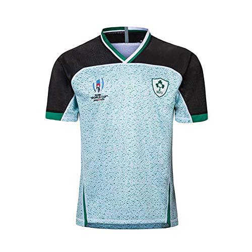 Rugby Trikot 2019 Japan World Cup T-Shirt Herren Sport Halbarm Professional Technisches Training Anzug Professionelle Kleidung Stickerei Bequem und Einfach Gr. 56, farbe