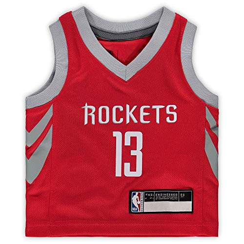 NBA Kids 4-7 Official Name and Number Replica Home Alternate Road Player Jersey (7, James Harden Houston Rockets Red)