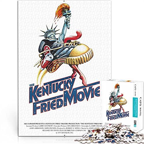 Klassisches Filmrätsel Intellektuelle Dekompression Kentucky gebratener Film 38x26cm Papier Mini 1000 Stück Klassisches Kunstpuzzle zum Sammeln