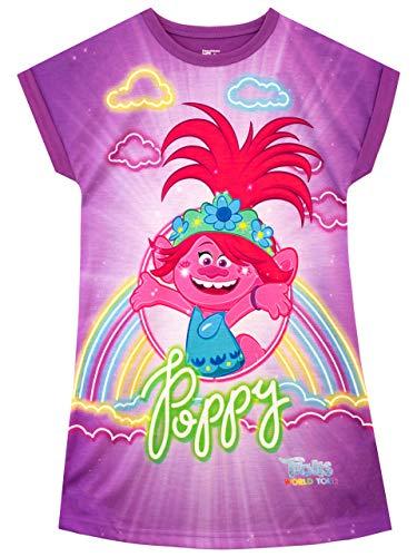 TROLLS Camisón para niñas Poppy Morado 5-6 Años