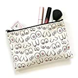 Boob Pouch, Makeup Bag, By Julie Ann Art