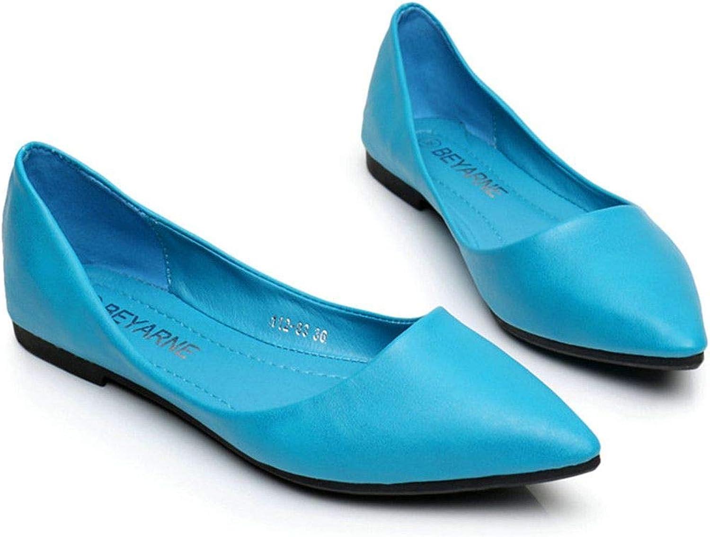 Sandals shoes 2019 Womens Woman Genuine Leather Flat shoes Fashion Hand-Sewn Black 5 M US