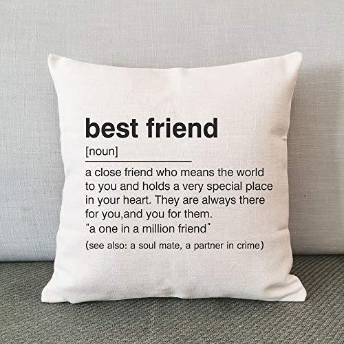 N/ A Best Friend Definition, Best Friend Kissen, Kissenbezug, Freund Kissen, Leinen Baumwolle Kissen, Lustiges Kissen, Wörterbuch