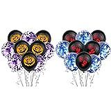 NUOBESTY 20 Piezas Globos de Látex de Halloween Globos de Huellas Dactilares de Calabaza para Decoraciones de Fiesta de Halloween Juguetes de Truco O Trato Juego de Aula Escolar