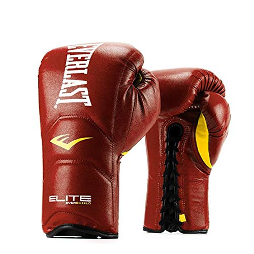 Everlast Elite Laced Leather Boxing Gloves