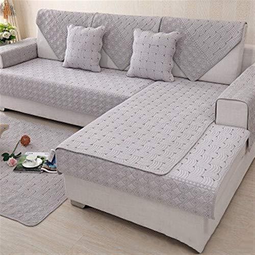 Nuovo Cotone copridivani Asciugamano Divano Plaid Four Seasons Couch Cushion Europea Slipcovers for Living Rooms Tessile Almofadas (Color : A, 规格 : 110x160cm 1pcs)
