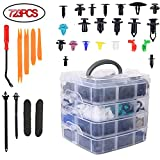 Plastic Retainer Clips Car Fasteners Clip Auto Accessories, 723PCS Bumper Clips Kit Auto Rivets Fasteners Kit with 10 Cable Ties for Honda Toyota GM Ford Chevy