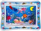 Wasserspielmatte Baby Spielzeug - Aufblasbare Baby Wassermatte ab 3、6、9 Monate Spaßaktivitäten Das Stimulationswachstum Ihres Babys für Baby Frühe Entwicklung Aktivitätszentren