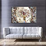 MhY Famosos Cuadros, pósters e Impresiones sobre Lienzo de Pintura El árbol de la Vida de Gustav Klimt para Living Room Decor 60cm x90cm No Frame