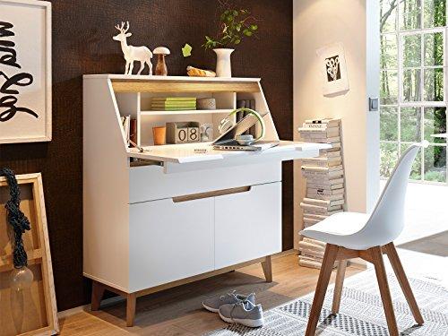 möbelando Sekretär Schreibtsich Bürotisch Laptoptisch Arbeitstisch Tisch Griffith I